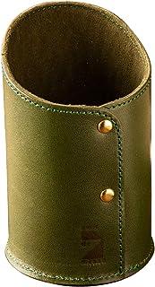 [アム デ マス] ペン立て 栃木レザー 円筒 本革 レザー 日本製 小物 ペンホルダー ハンドメイド シンプル PH-023 グリーン
