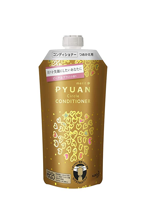 約束するメキシコ充実PYUAN(ピュアン) メリットピュアン サークル (Circle) ピーチ&プラムの香り コンディショナー つめかえ用 340ml tsumori chisato コラボ