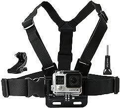Zoukfox Chest Belt Strap Harness Mount, Camera Headstrap Mount + Quick Clip for Gopro Hero 4 Hero 3 Hero 3+ Hero 2 (Chest Strap)