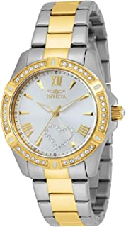 Invicta Women's Angel Quartz Watch with Stainless Steel Strap, Two Tone, 18 (Model: 21418)