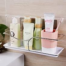 LWVAX® Magic Sticker Series Self Adhesive Wall Mounted Bathroom Shelf/Kitchen Shelf/Toilet Holder Organizer Shelf/Bathroom Cosmetic Organizers