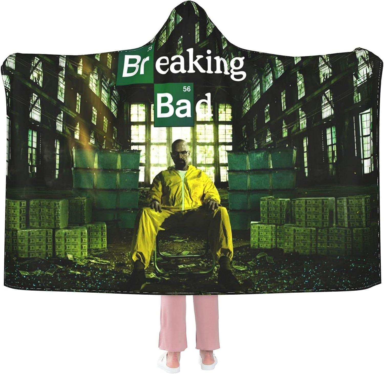 Breaking Bad Hooded Blanket OFFicial Light New Orleans Mall Oversized Wearable Microfiber