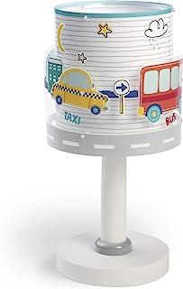 Dalber 61681 Lampe de Table Baby Travel Voitures/Avions, Plastique, 40 W, Multicolore