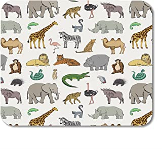 Nakamela Mouse Pads Drawing Leopard African Animals Pattern Cute Gorilla Mouse mats 9.5