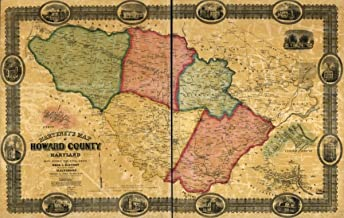 Map: 1860 Martenet's of Howard County, Maryland : Drawn Entirely from Actual surveys|Howard County|Maryland|Real Property|