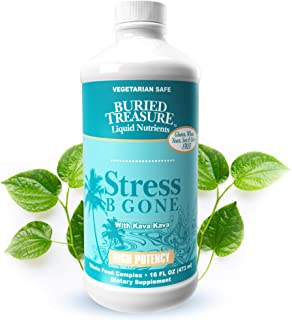 Buried Treasure Stress B Gone with Kava Kava Root, B Vitamins and Vitamin C for Stress Relief and Immune Support Natural R...