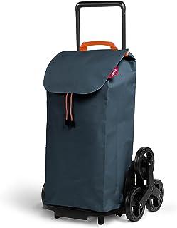 Gimi Wózek na zakupy z 6 kółkami, torba wodoszczelna, 100% poliester, pojemność 52 l, 44,1 x 50,7 x 95,6 cm, szary, Grande