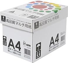 APP 高白色 コピー用紙 高品質マルチ用紙 超高白色 白色度98% A4 紙厚0.106mm 2500枚(500枚×5冊) インクジェット用紙 PEFC認証