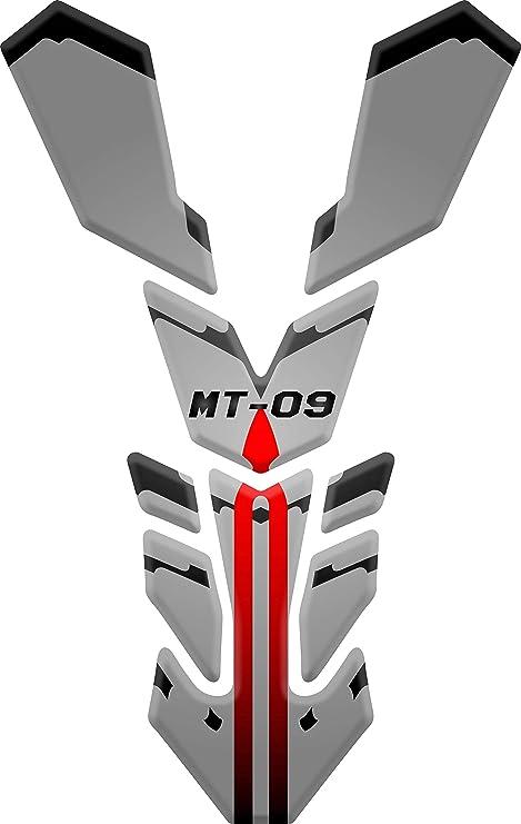 Tankpad Motorad Draht Muster Tankschutz Polymer Kompatibel Yamaha Mt 09 2019 Grey Red Auto