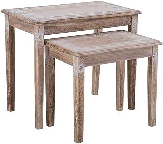 Amazon.fr : table basse bois exotique