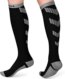 Satinior Compression Socks (10-20mmHg) for Women and Men, Graduated Sport Stockings Fit for Running, Travel, Athletic, Pregnancy, Nurses, Edema, Circulation and Recovery