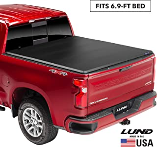 "Lund Genesis Tri-Fold Soft Folding Truck Bed Tonneau Cover | 95050 | Fits 2017 - 2020 Ford Super Duty 6' 9"" Bed"