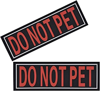 Dogline Do Not Pet Patches for Harness and Vest Removable 3D Rubber Patches with Hook Backing for Small Medium or Large Wo...