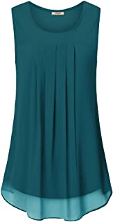 Sponsored Ad - Timeson Women`s Sleeveless Chiffon Tank Top Double Layers Casual Blouse Tunic