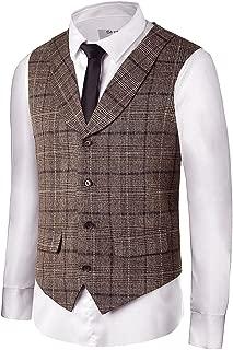Men Waistcoat Shawl Collar Sleeveless Slim Fit Jacket Business Suit Vests VS30