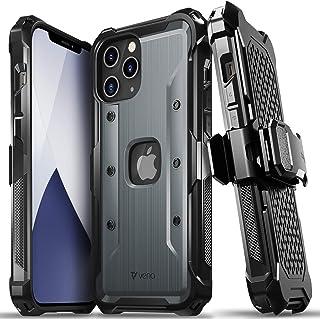 "Vena vArmor Apple iPhone 12 Pro Max (6.7""インチ) 専用 ケース (米軍MIL規格取得 | 落下 衝撃 吸収) 3重構造 携帯保護カバー 耐衝撃 スマホ ケースベルトクリップ ホルスター キックスタンド ..."
