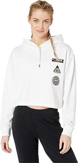 S M L XL Puma Damen Modern Sports Light Cover up Hoody Pine Kapuzenpullover Gr