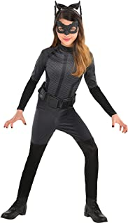 Batman: The Dark Knight Rises Catwoman Costume for Girls, Size Medium, Includes a Jumpsuit and More