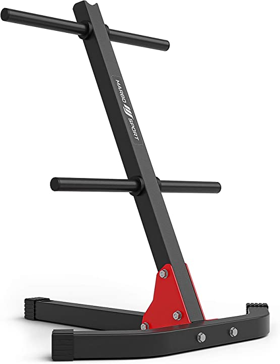 Supporto pesi per piastre pesi e maniglia multi-stand mh-s206 marbo sport