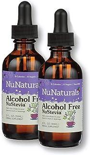 NuNaturals NuStevia Alcohol Free Liquid Stevia Drops Natural Liquid Sweetener, Sugar Free, 295 Servings, 2 oz, (2-Pack)