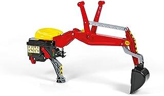 Rolly Toys 409327 - rollyBackhoe Heckbagger Alter 2,5 - 10 Jahre, Aufsitzbagger, mit Stützfuß, für Heckkupplung