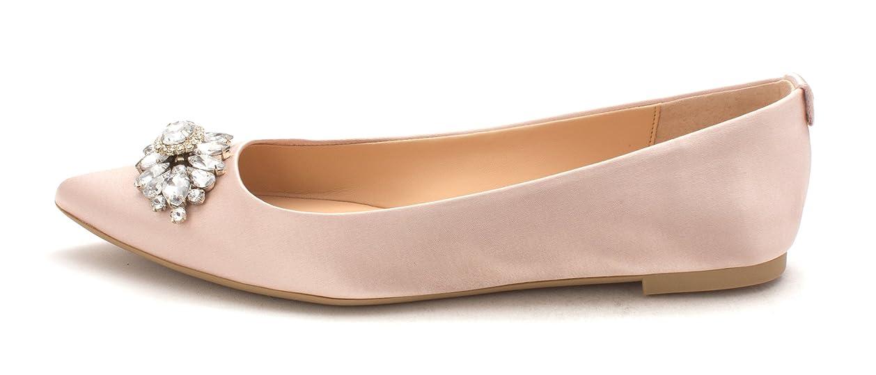宝愛国的なシャワー[Badgley Mischka] Womens Havana Fabric Pointed Toe Ballet Flats [並行輸入品]
