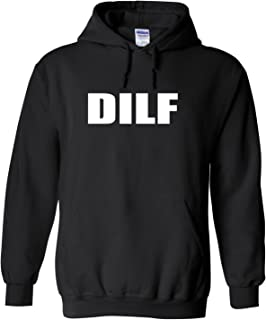 Rogue River Tactical Funny DILF Dad I Like to F Hoodie Hooded Sweatshirt Men's Sarcastic Father