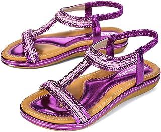: Violet Sandales mode Sandales et nu pieds