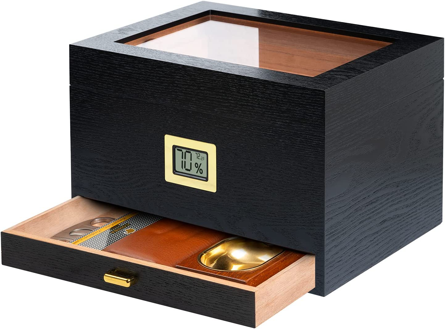 Epress Handmade Cigar Humidor Overseas parallel import regular item Spanish Natural lowest price with G Cedar Wood