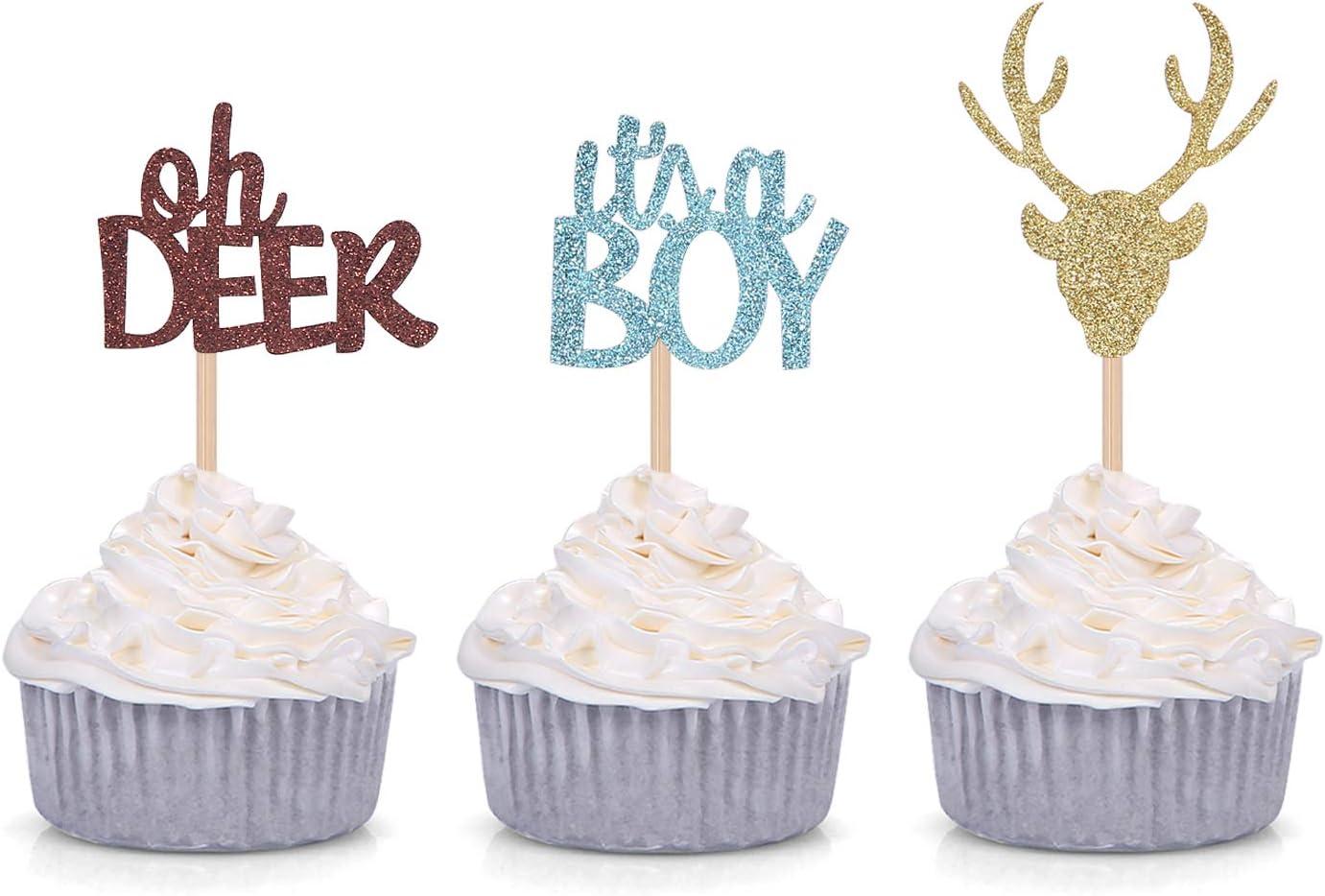 woodland baby shower It/'s a buck Deer baby shower It/'s a boy centerpiece its a boy decoration Deer centerpiece