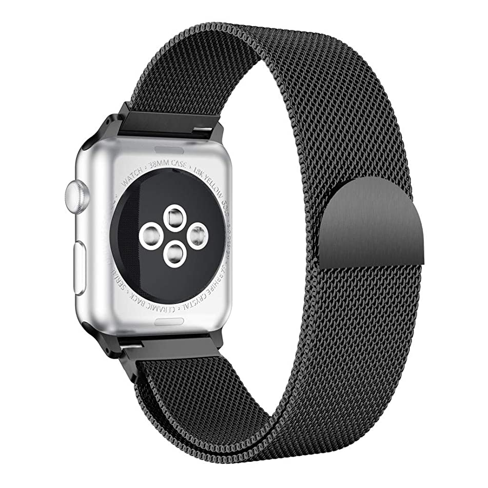 Bnad Compatible For Apple Watch Series 4 44MM,Men/Women Magnetic Closure Clasp Stainless Steel Replacement Mesh Milan Bands