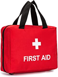 Full-Open First Aid Zippered Bag Empty Travel Rescue Pouch First Responder Storage Medicine Organizer for Emergency at Hom...