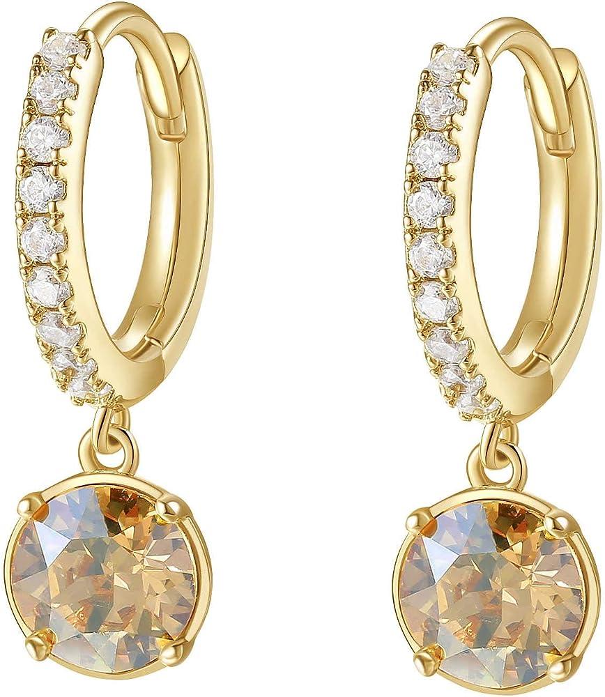 Brosway affinity orecchini per donna in ottone rodiato, galvanica oro e zirconi bianchi BFF133 3