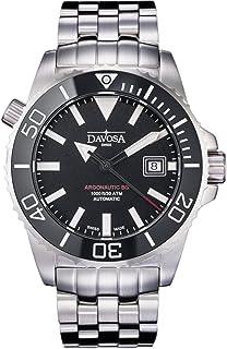 DAVOSA - Reloj suizo automático de buzo – Reloj de pulsera analógico de lujo impermeable para hombre con pulsera elegante