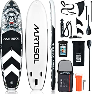 """Murtisol 10.5'32.5"""" 6"""" Inflatable Stand Up Paddle Board Premium SUP with Accessories, Non-Slip Deck, ISUP Travel Bag Ankle..."""