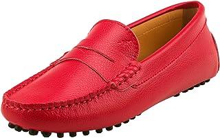 Shenduo Donna Lacci in camoscio barca Mocassini fannulloni piani scarpe slip-on di guida