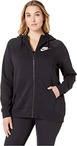 Plus Size Rally Full Zip Extended Hoodie
