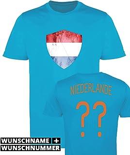 Niederlande EM 2020 Fanartikel Fanshirt Fußball Fan Kinder Jungen T-Shirt Trikot