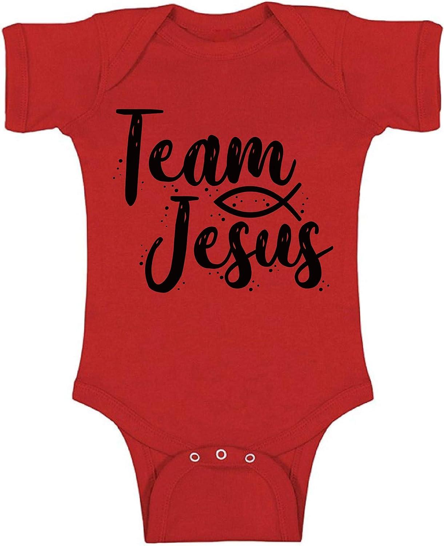 Awkward Styles Team Jesus Black Bodysuit Long Sleeve Christ Romper for Kid One Piece Top