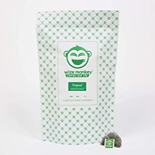 Wize Monkey Tea, Original, 50 Biodegradable Tea Bags, Lightly Caffeinated Tea, Sustained Energy and Focus, Antioxidant Rich, Smooth Refreshing Taste, Non Gmo, Zero Carbs