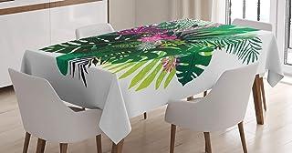 ABAKUHAUS Philodendron Nappe, Bouquet Exotique, Linge de Table Rectangulaire pour Salle à Manger Décor de Cuisine, 140 cm ...