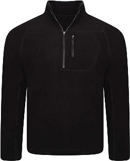 True Face Mens Sweatshirt Partial Zip Long Sleeved Jacket Thick Warm Winter Top