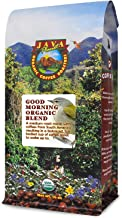 Java Planet - Good Morning USDA Organic Coffee Beans, Medium Roast, Arabica Gourmet Coffee Grade A, packaged in 1 LB bag