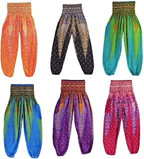 Jpjck Women Pants High Waist Harem Trousers Yoga Leggings Loose Bloomers Colorful Beige