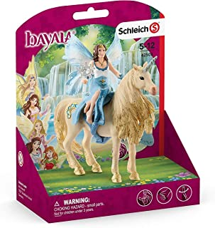 Schleich bayala, 3-Piece Playset, Mermaid Toys for Girls and Boys 5-12 years old, Eyela Riding on Golden Unicorn