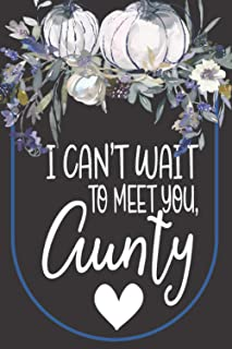 I Can't Wait To Meet You: Aunt Gift Ideas - lined journal diary For Women & Girls- Surprise watercolor Presents