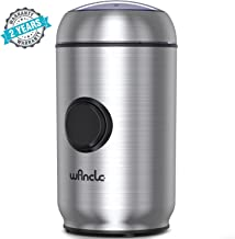 WANCLE Coffee Grinder Electric Coffee Mill with Smart Overheat Protection and Lid Safety..