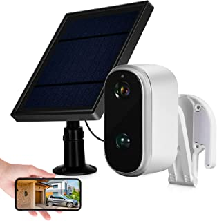 Outdoor Security Camera Wireless WiFi,NOLYTH Solar/Battery Powered Surveillance Camera with 1080P Night Vision,PIR Motion ...