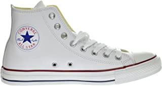 high top white converse leather