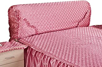 Headboard Cover Bed Elasticity Protector with Stretch Side and Pocket All-Inclusive Cotton Cover for Twin Queen King Headb...
